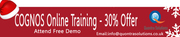 Online Training on Cognos  by 7+ Years Experienced Tutors- Quontra Sol